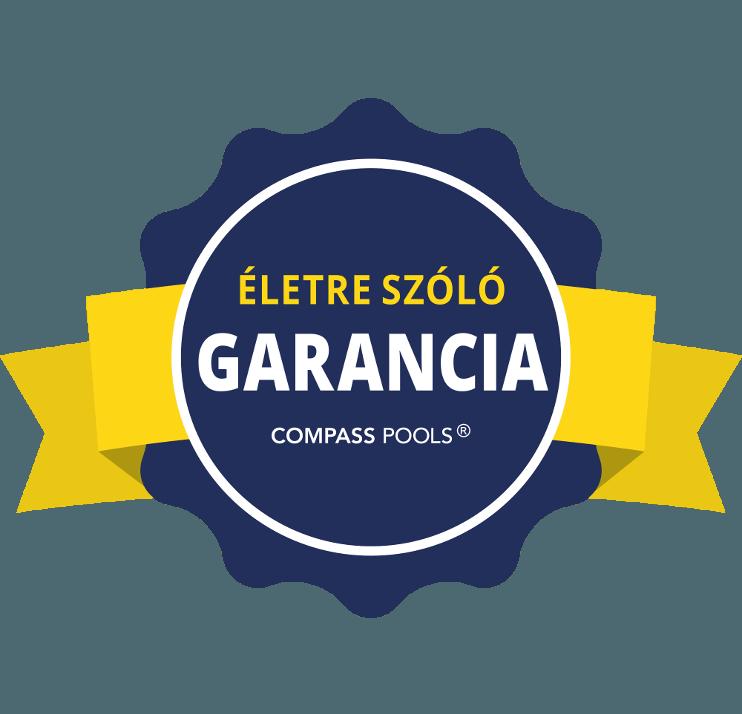 Compass karbon kerámia medence életre szóló garancia